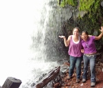 Monse and me by the waterfall