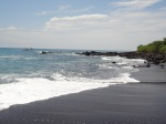 Black volcanic sand!