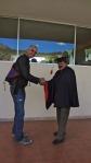 Fernando grants Oswaldo a diploma!