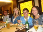 Henry, Robin, André, and Me enjoying some sushi!