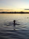 Swimming in the lagoon!