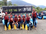 Our river rafting 'team' (We were a hot mess!)