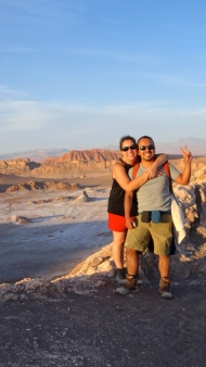 We climbed a dune and watched the sun set over the desert. A really great memory!
