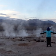 There were a ton of geysers that we woke up at 3:30am to see.
