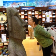 We didn't get to Easter Island but I still got to see a Moai in the airport!