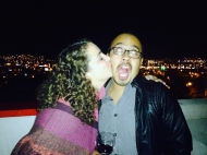 Esteban and I were invited to a great party on our friends roof to celebrate!